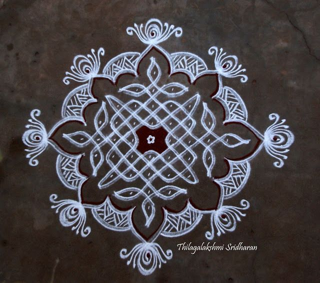 Rangoli and Art Works: CHIKKU KOLAM WITH SOME EXTENSIONS