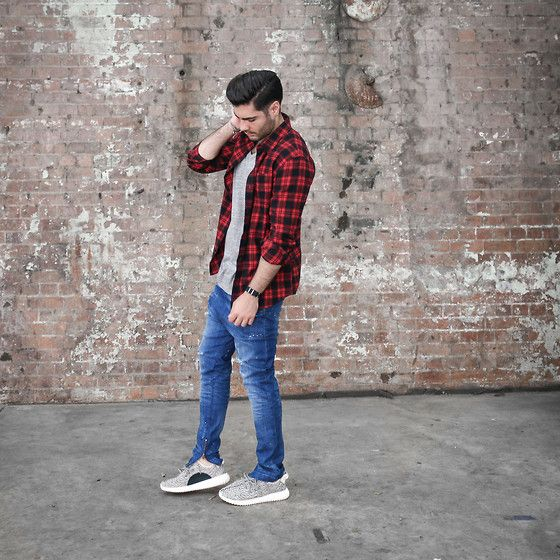 Get this look: http://lb.nu/look/7922074 More looks by Mattthw D: http://lb.nu/mattthw Items in this look: Arvust Flannel, John Elliott + Co Curve Tee, I Love Ugly Zespy Denim, Adidas Yeezy 350 Boost #casual #minimal #street