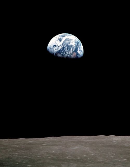 """""""And from the crew of Apollo 8, we close with good night, good luck, a Merry Christmas – and God bless all of you, all of you on the good Earth."""" —Apollo 8 astronaut Frank Borman, December 24, 1968"""