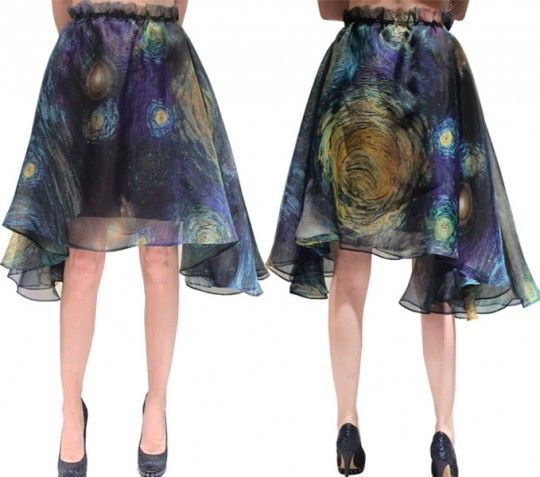 Van Gogh's Starry Night Skirt. Absolutely gorgeous! And for only $2,295, what a steal...