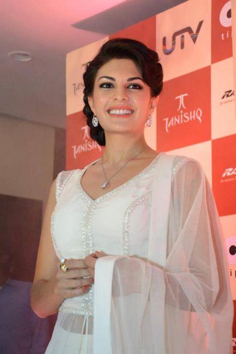 Jacqueline Fernandez in White Salwar