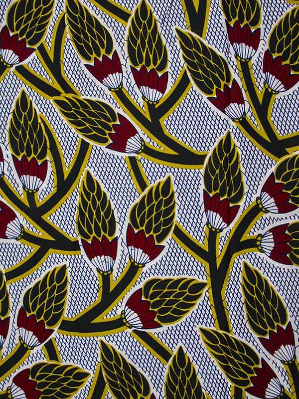 african wax print   Home / African Fabric Real Wax Print 6 Yards 100% Cotton rw090061_1