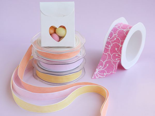 Sorbet coloured ribbons for beautiful wrapping