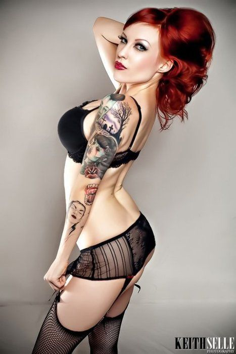 Pin up Tattoos photographySexy, Hair Colors, Red Hair, Redheads, Pinup, Pin Up Tattoo, Tattoo Photography, Tattoo Ink, Pin Up Girls