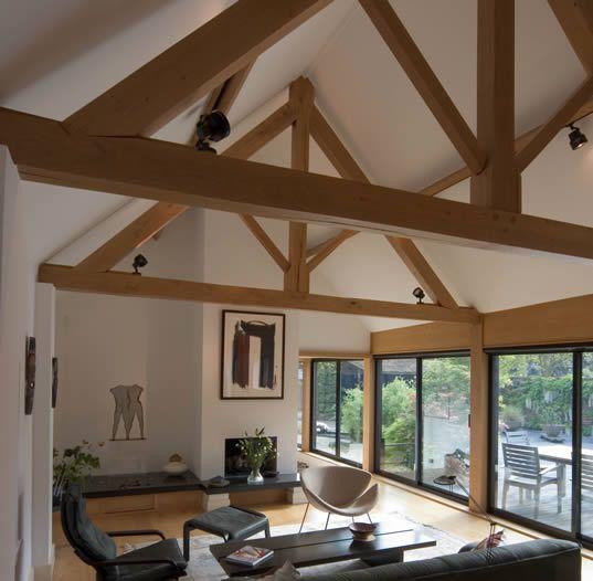 Oak framed extension by Clague LLP