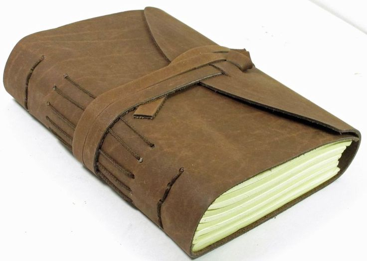 LEATHER BOUND JOURNAL DIARY - Sketchbook - Vintage Classic Blank Pages Handmade