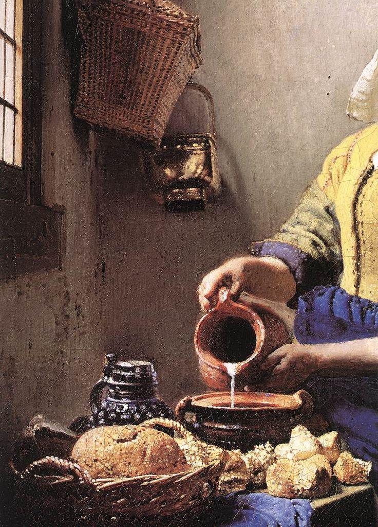 Amazing Detail   Jan Vermeer, The Milkmaid, 1660, Dresden, Amsterdam, Rijksmuseum  Amsterdam