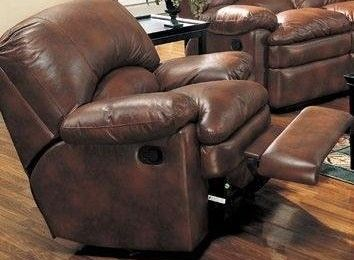 Angelica Rocker Recliner in Brown Leather