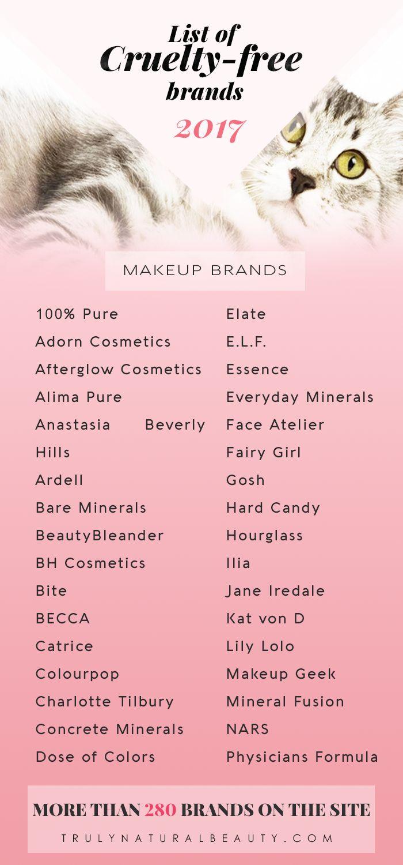 List of Cruelty-free Makeup Brands   Cruelty-free Brands   280 Cruelty-free Brands   Cruelty-free