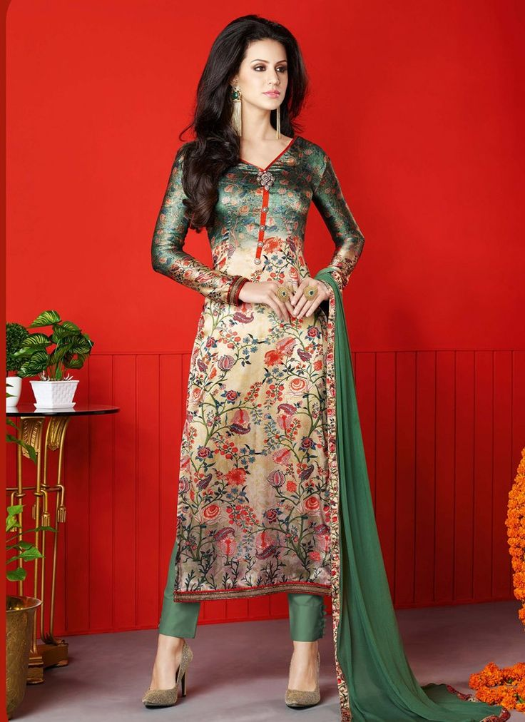 12 best Best of Casual Satin Salwar Kameez images on Pinterest ...