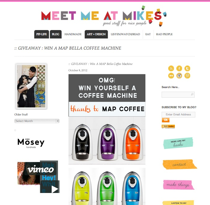 Thanks @Pip Lincolne for featuring us!  #meetmeatmikes
