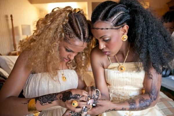 African Wedding Inspiration | Eritrean bridal hairstyle