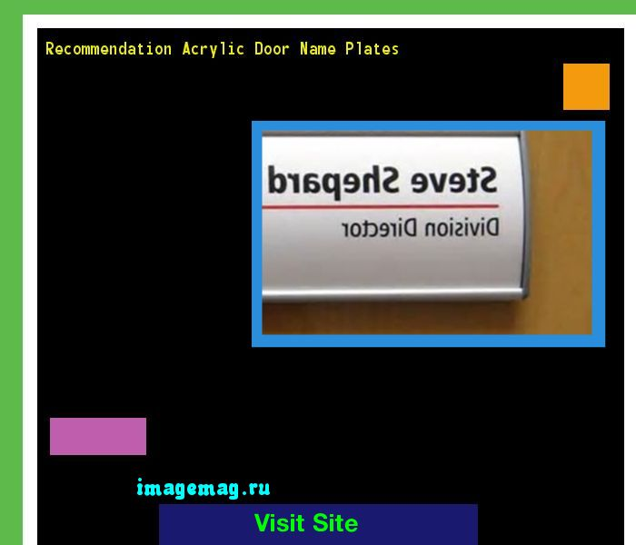 Recommendation Acrylic Door Name Plates 141457 - The Best Image Search