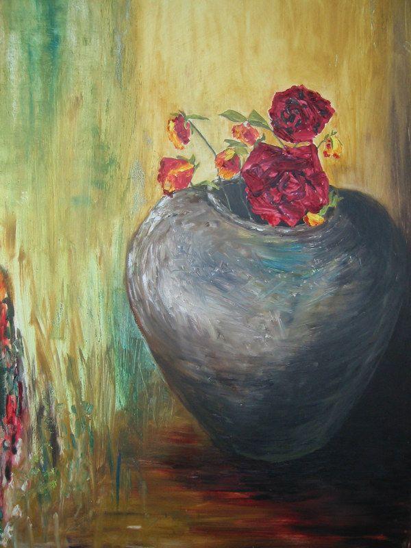 tørrede roser     olie