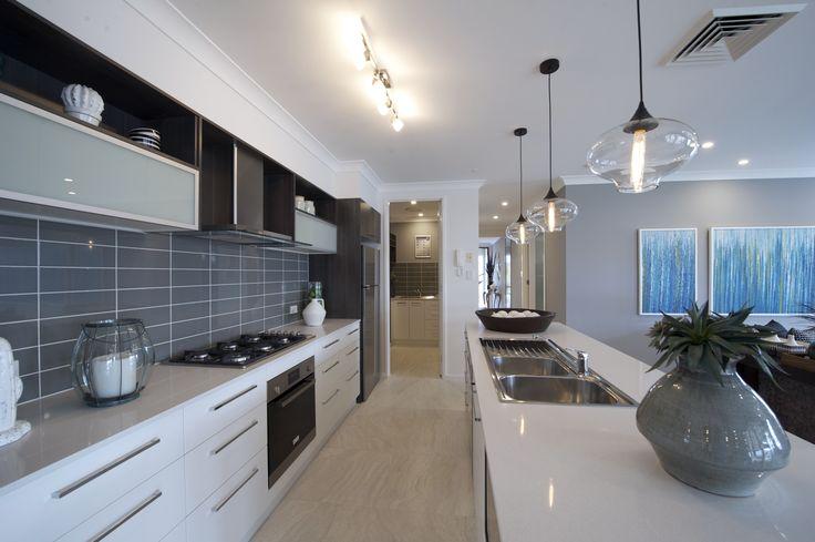 Carlisle kitchen - on display at Shell Cove #kitchen #openplan #islandbench #interiordesign #dining