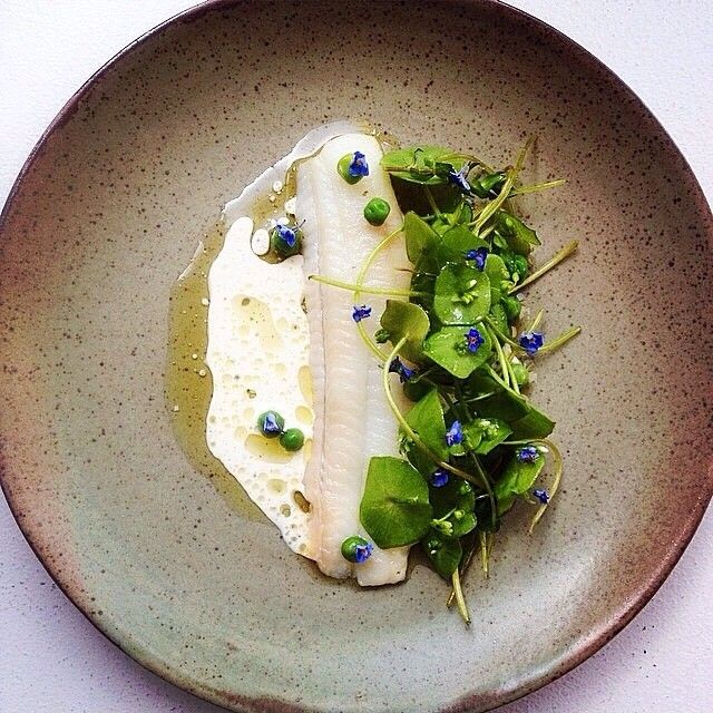 Plaice and miner's lettuce by @c1718 #TheArtOfPlating