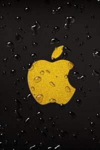 Yellow Apple Droplets iPhone 4(s) Wallpaper | Wallpaperterest >>> Click for original size <<<