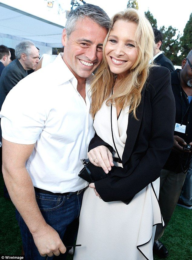 Friends stars Matt LeBlanc and Lisa Kudrow cuddled up at the CW, CBS, And Showtime 2012 Summer TCA Party at The Beverly Hilton Hotel