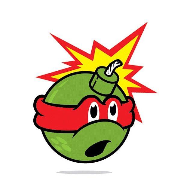adam bomb x ninja turtles logos pinterest turtles