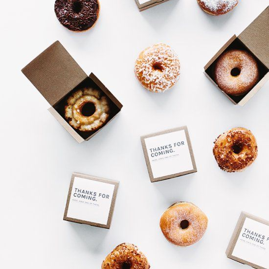 My favorite inexpensive party favors are always donuts! Fancy them up with these cute printable labels!