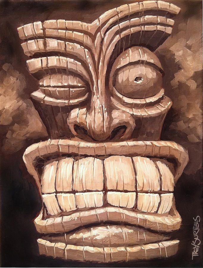 Freaky Tiki Man 1 Painting by Trey Surtees - Freaky Tiki Man 1 ...