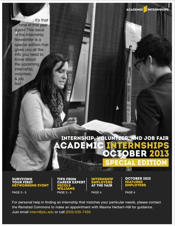 Special edition alert! The Internship, Volunteer & Job Fair is coming up next week. Spiff up on your skills so that you make a good impression!