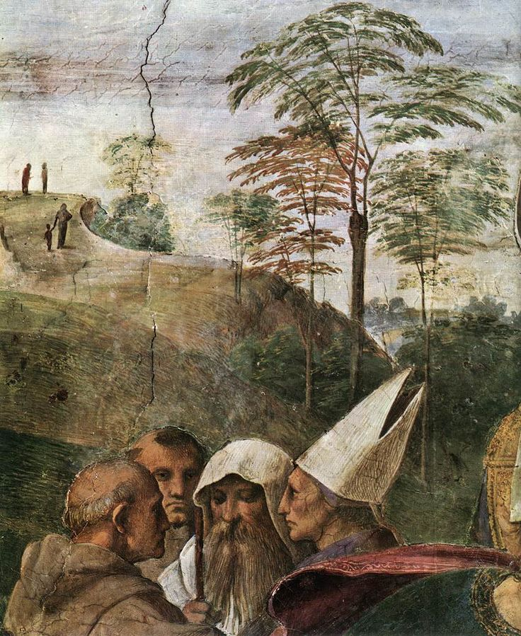 Raphael (1483-1520)  Disputation of the Holy Sacrament (La Disputa) [detail: 4]  Fresco  1510-1511
