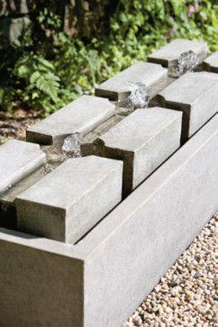 Contemporary Outdoor Fountains