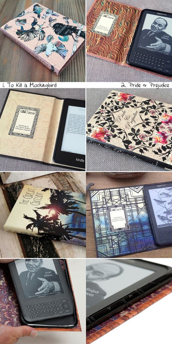 Kindle Cover Beautiful Handmade Classic Book Case by KleverCase