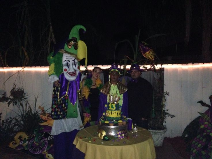 King of Mardi Gras e Jester and Parents