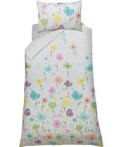 Confetti Floral Multicoloured Bedding Set - Single.