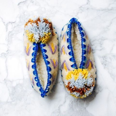 Goes well with hot chocolate and the occasional polar vortex. These children's wool slippers are comfortable and cozy for wearing around the house during these colder months - day and night.
