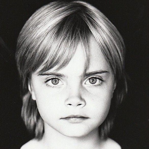 This Photo of Cara Delevingne as a Child Is TOO Cute via @WhoWhatWear