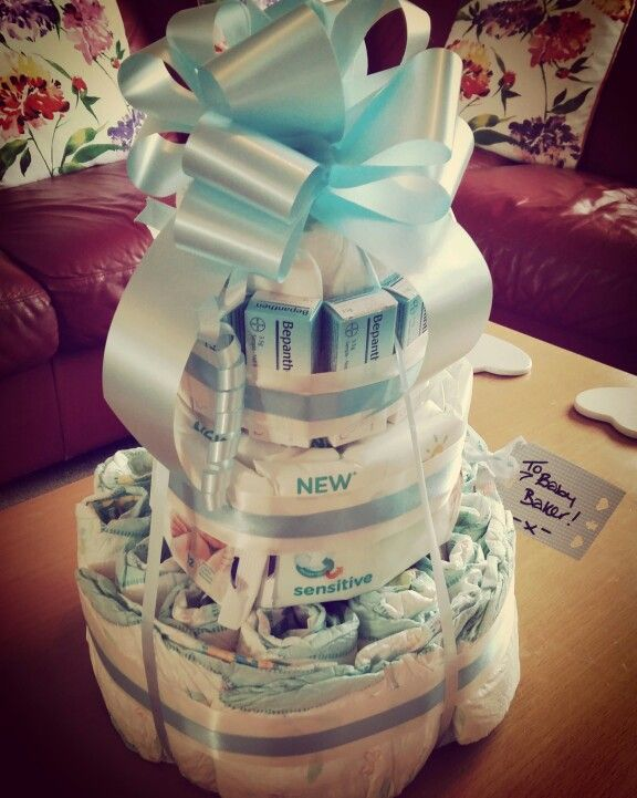 Nappy cake for baby shower!!