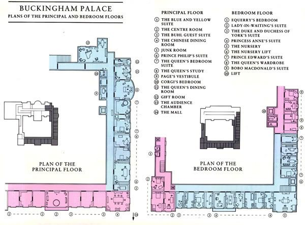 Plan of buckingham palace bedrooms apartment plans and for Palace plan