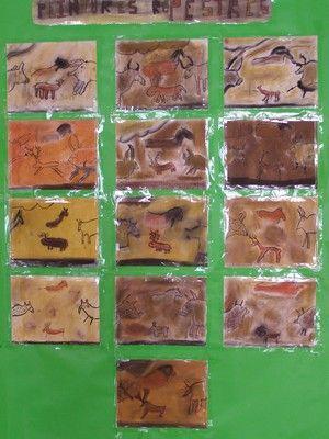 pastel et fusain pour peintures rupestres
