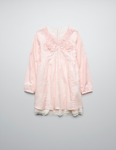 DRESS WITH LACE TRIM ON HEM - Dresses - Girl (2-14 years) - Kids - ZARA United States