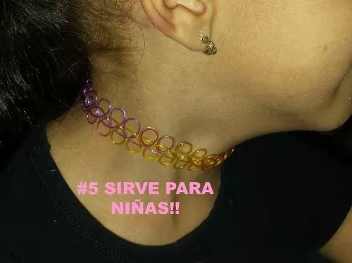 choker tatto multicolor negro marron claro oscuro