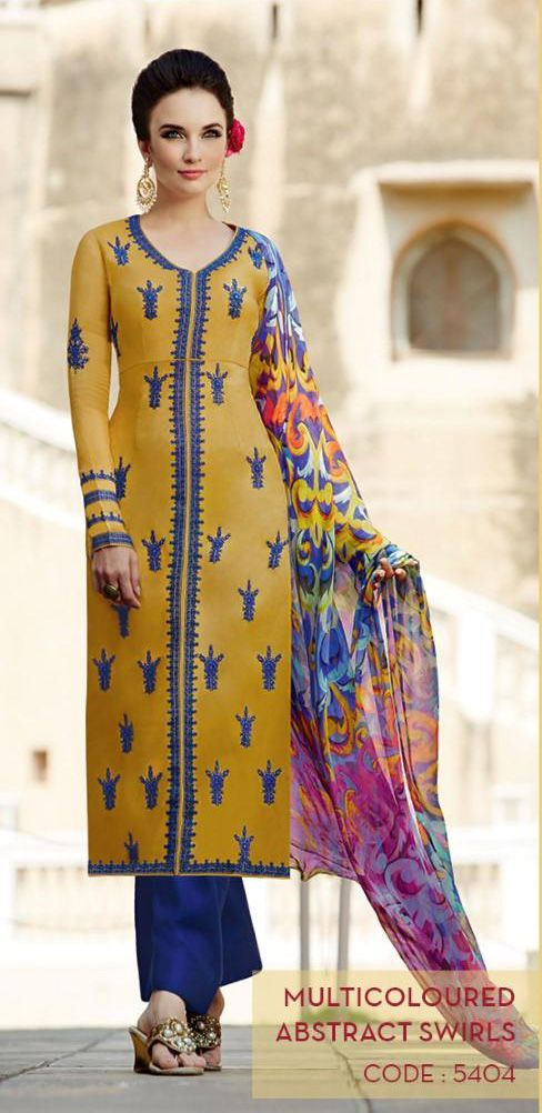 Give your look a subtle boost with a stunning new #heer Party Wear Suits. #Kimora #Fashion. Heer Volume-5 By Kimora Hit Design Salwar Suits. http://www.completethelookz.co.uk/asian-designer-clothes/heer-collection-by-kimora #heer #kimora #ShalwarKameez #Designer #salwarkameez #Kimora #Ethnicwear #embroidery #suit #Indian #Fashion