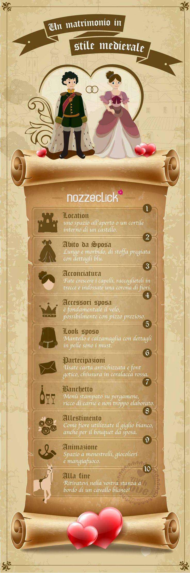 Decalogo del #matrimonio in stile medievale! #matrimoniocreativo #matrimoniomedievale #matrimonioatema #medioevo