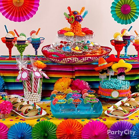 Caribbean Table Decorations Ideas | Mexican Fiesta Dessert Ideas - Party City