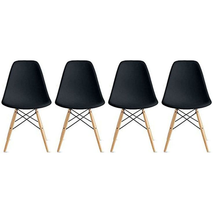 Set Of Four Black
