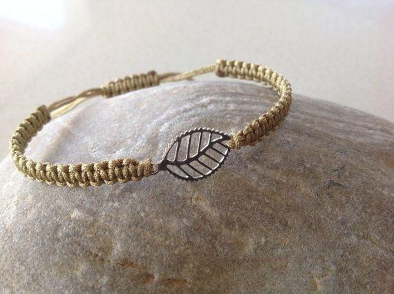 Delicate  sterling silver leaf bracelet by keepcalmandbeadon, £7.00