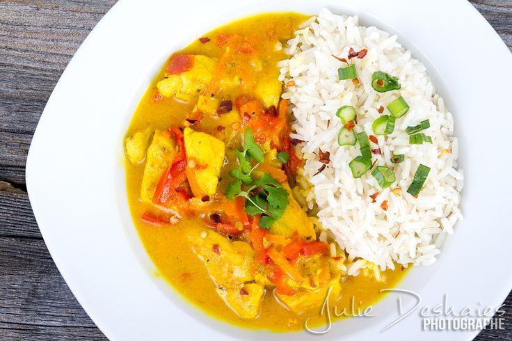 Poulet Cari Coco #cari #poulet #coco #thai #curry #food #cuisine #recette #riz #repas #sauce