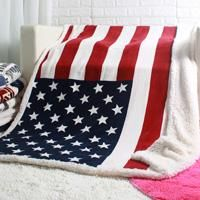 Your Country & Around the World Sherpa Plush Blanket