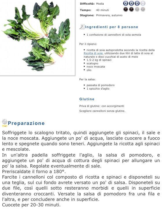 Cannelloni vegricotta e spinaci