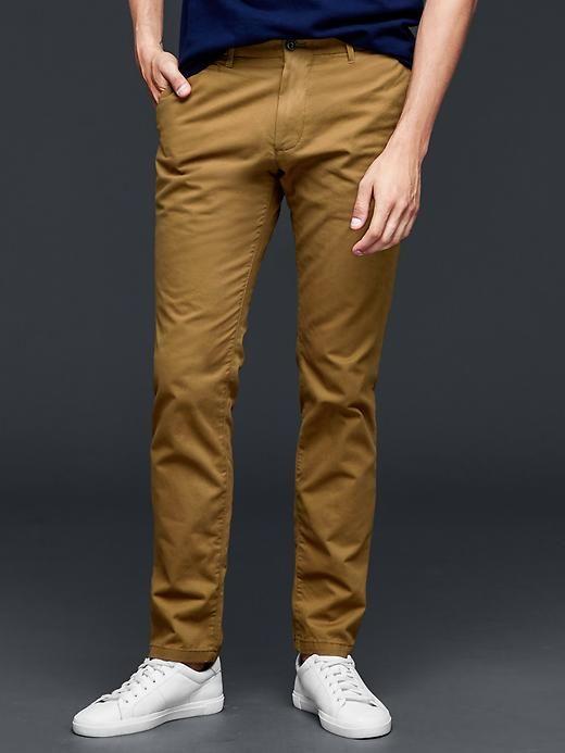 Lived-in skinny khaki