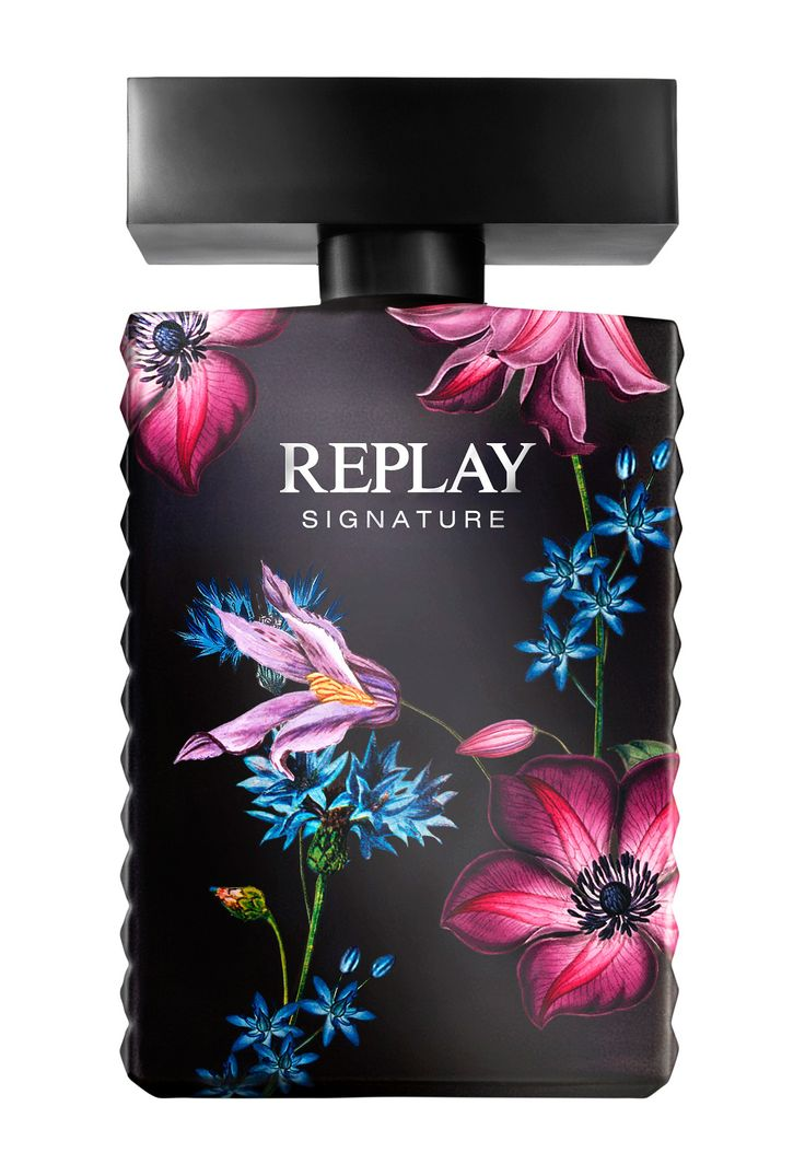 Replay Signature for women...- - A chypre-floral with animalic chords - Top notes include citruses and sweet mandarin orange with juicy nectarine - Middle notes of narcotic jasmine, ylang-ylang and geranium - Base notes of vetiver, patchouli, amber and musk.