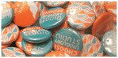 25 2.25 inch Full color Custom Buttons. We can make ANY size quantity in 3 different sizes.