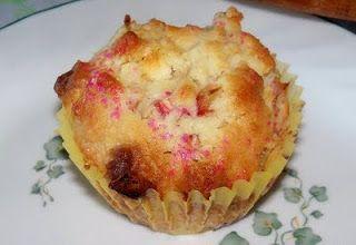 White Chocolate-Rhubarb Muffins